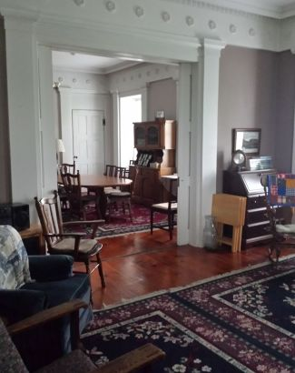 View from the front parlor.
