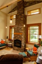The completed North Wing offers a comfortable setting for private retreats.