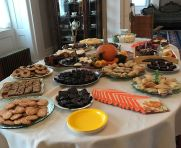 Tempting treats displayed for guests at the Open House in fall 2017.