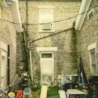The courtyard patio, 1992, as we found it.