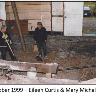 Preparing to build a new floor for the kitchen, 1999.